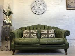 Olive Green Accessories Living Room Lovely Olive Green Chesterfield Sofa Can Deliver In West Mersea