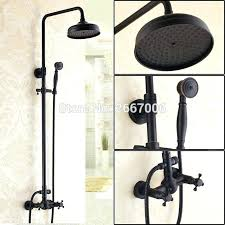 free royal decoration oil rubbed bronze black shower faucet set rain head bathroom wall mounted