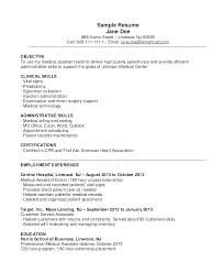 Medical Office Assistant Resume Resume Templates Office Medical