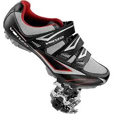 Venzo Mountain Mens Bike Bicycle Cycling Compatible With Shimano Spd Shoes Pedals Cleats Good For Spin Cycle Off Road Mtb Package