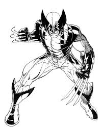 Small Picture Furious Wolverine X Men Coloring Page Coloring Pages Pinterest