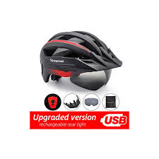 Victgoal Bicycle Helmet <b>LED</b> Moutain Road USB Rechargeable ...