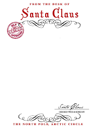 santa claus letterhead will bring lots of joy to children best photos of letter from santa stationary template blank letters from santa claus template printable letter head from santa claus and letters from