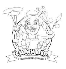 Kleurplaat En Links Van Clown Kiko Clown Jongleur Magic En Ballonnen