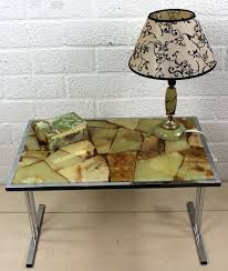 onyx marble combination side table lamp and box spain 20th century