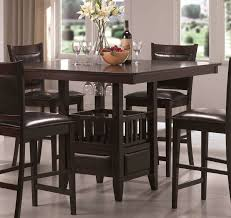 black color round pub table and chairs