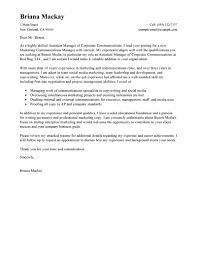 Leading Professional Assistant Manager Cover Letter Examples