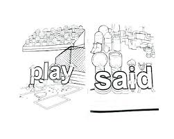 Coloring Pages With Color Words Sight Word Coloring Page Pages