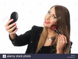 woman holding hand mirror Stock Photo Royalty Free Image 146420980