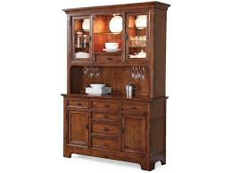 Flexsteel Wynwood Collection River Valley Buffet with Hutch and Wine Rack  Storage
