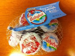 babybel light is 50 calories per piece 21 grams and reminiscent of an unaged gouda and the cream swiss light is a really a soft cheese spread that tastes