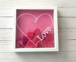 valentines day shadow box heart diy home decor easy valentine decoration with free love cut