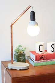 copper concrete lamp diy look what i made