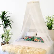 LUXURY BED CANOPY Mosquito Net Curtains + 3 Bonus Hanging Decorations and  Hanging Kit by Bobo & Bee - Large Queen Size, White  Perfect For Girls, ...