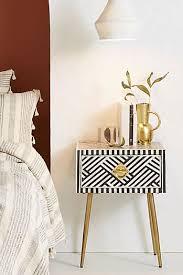 bedroom furniture. Delighful Furniture Optical Inlay Nightstand In Bedroom Furniture