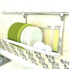 wall mounted dish rack good convenient folding drain drying malaysia