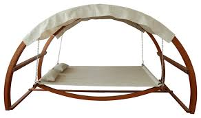 Swing Bed With Canopy contemporary-hammocks-and-swing-chairs