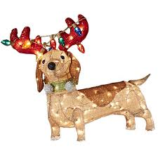 Shop Holiday Living Lighted Dog Outdoor Christmas Decoration