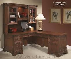 home office desk l shaped. Warm Cherry LShaped Computer Desk With Return And Hutch Home Office Furniture L Shaped