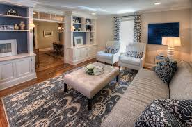 bright ikat rug in living room traditional with ikat rug next to benjamin moore monroe bisque alongside navy and gray and benjamin moore navajo white