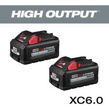 Milwaukee M18 18 Volt Lithium Ion High Output 6 0ah Battery