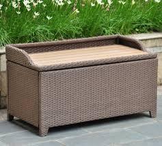 barcelona wicker resin storage bench finish