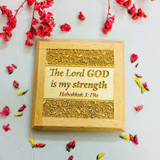 Nam Châm Gỗ Dán Tủ Lạnh - Ha-ba-cúc 3:19a - Tiếng Anh - NC-1084