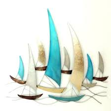 sailboat metal wall art for sale