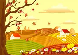 drawing beautiful scenery free vector