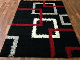 red black white area rugs gy rug silver gray squares pattern furniture s now