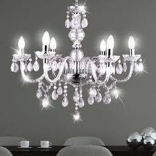 chandelier chandelier lamp living room lighting chrome acrylic decor right globo 63116 6 cuimbra i