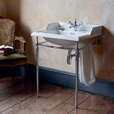 burlington classic rectangular basin with chrome wash stand