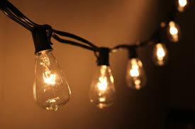 fantado 10 socket outdoor patio string light set s38 clear bulbs 10 ft black cord w e12 c7 base by paperlantern com