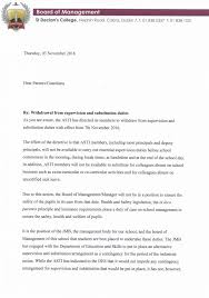 care of letter letter from the board of management st declans college