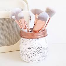 marble makeup brushes. marble ball mason jar desk decor pen pot makeup by tillysage brushes b
