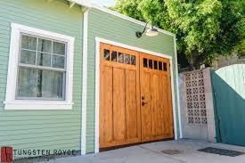 wood carriage garage doors. Carriage Garage Doors On Rustic Mint Home Wood