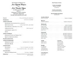 Template For A Wedding Program Voipersracing Co