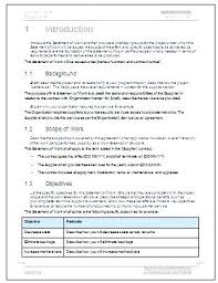 It Statement Of Work Scope Of Services Template
