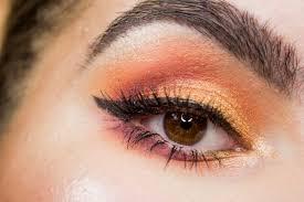 golden flames eye makeup tutorial