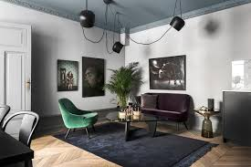 green velvet shines in these enviable rooms