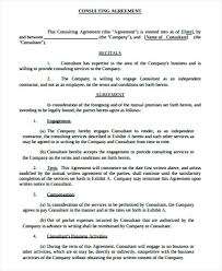 Simple Consulting Agreement Template Consultant Contract Free ...
