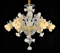 yhd60026 rose chandelier italian style handmade glass chandelier
