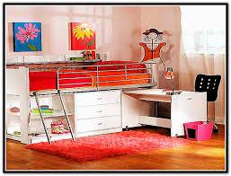 charleston storage loft bed with desk white
