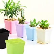 office flower pots. Image Is Loading Mini-Plastic-Panter-Pot-Small-Square-Plant-Flower- Office Flower Pots X