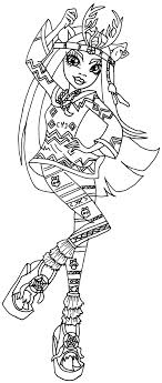Isi Dawndancer Monster High Coloring Pages