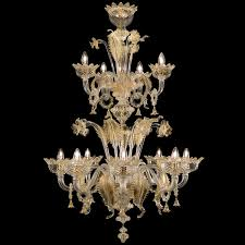 8 4 lights double floor artistic glass chandelier crystal color with gold details