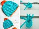 Связать шапочку крючком для новорожденного начинающих