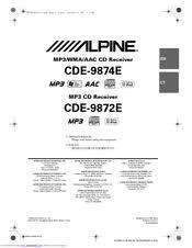 alpine cde 9874e manuals alpine cde 9874e owner s manual