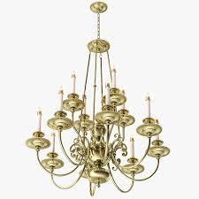 one kings lane 12 arm brass chandelier 3d model max obj 3ds fbx mtl 4
