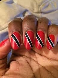 Trinidad Flag Nail Design Trinidad Flag Nail Art Flag Nails Nails Nail Art